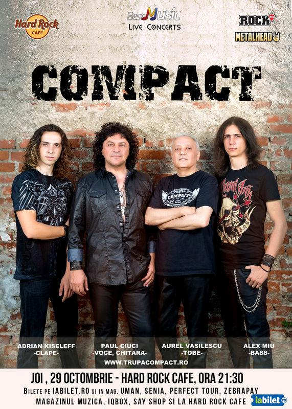 Afiș Compact Concert la Hard Rock Cafe 2015