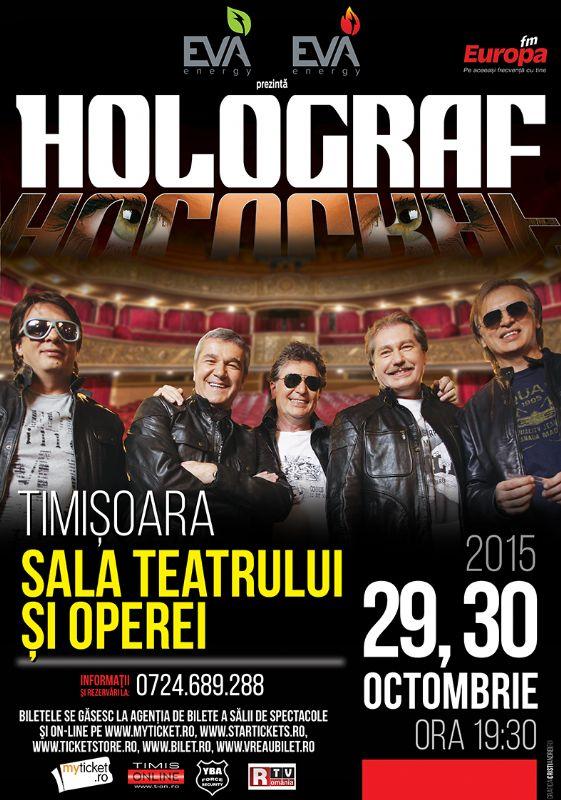 Afiș Holograf Concert Teatrul Național Timișoara 2015