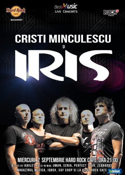 Afiș Iris și Cristi Minculescu concert la Hard Rock Cafe 2015
