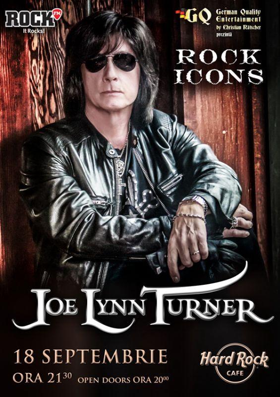 Afiş Joe Lynn Turner concert Hard Rock Cafe 2015