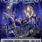 Afiş concert Korpiklaani şi Arkona la Arenele Romane