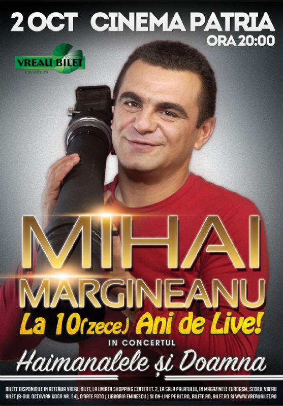 Afiș Mihai Mărgineanu concert Cinema Patria 2 octombrie 2015