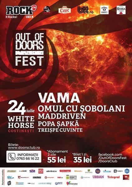Afiș Out of Doors Fest 2015 la White Horse Costinești