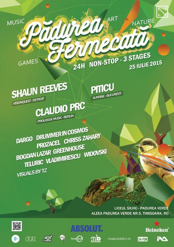 Afiș Padurea Fermecată Concert Timișoara 2015