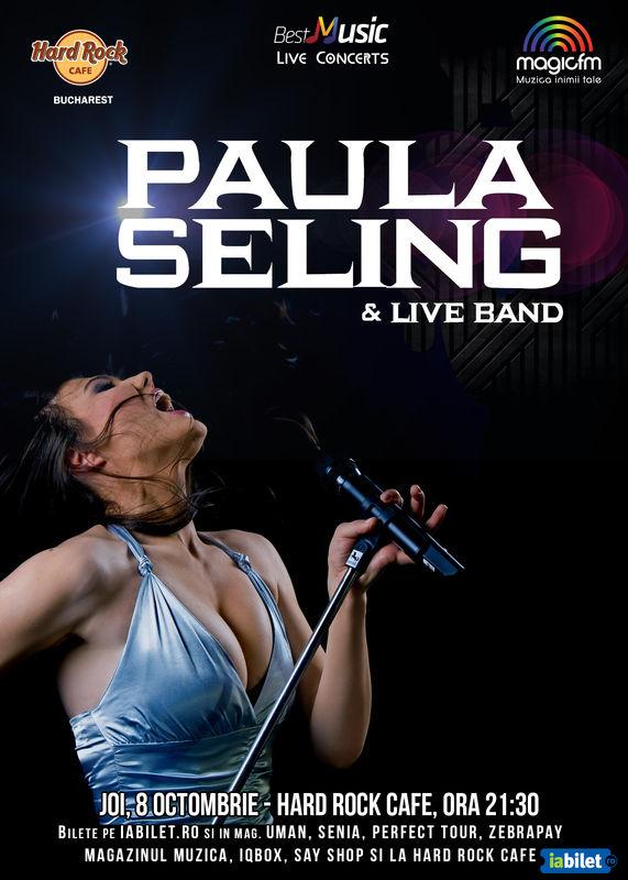 Afiș Paula Seling Concert la Hard Rock Cafe 2015