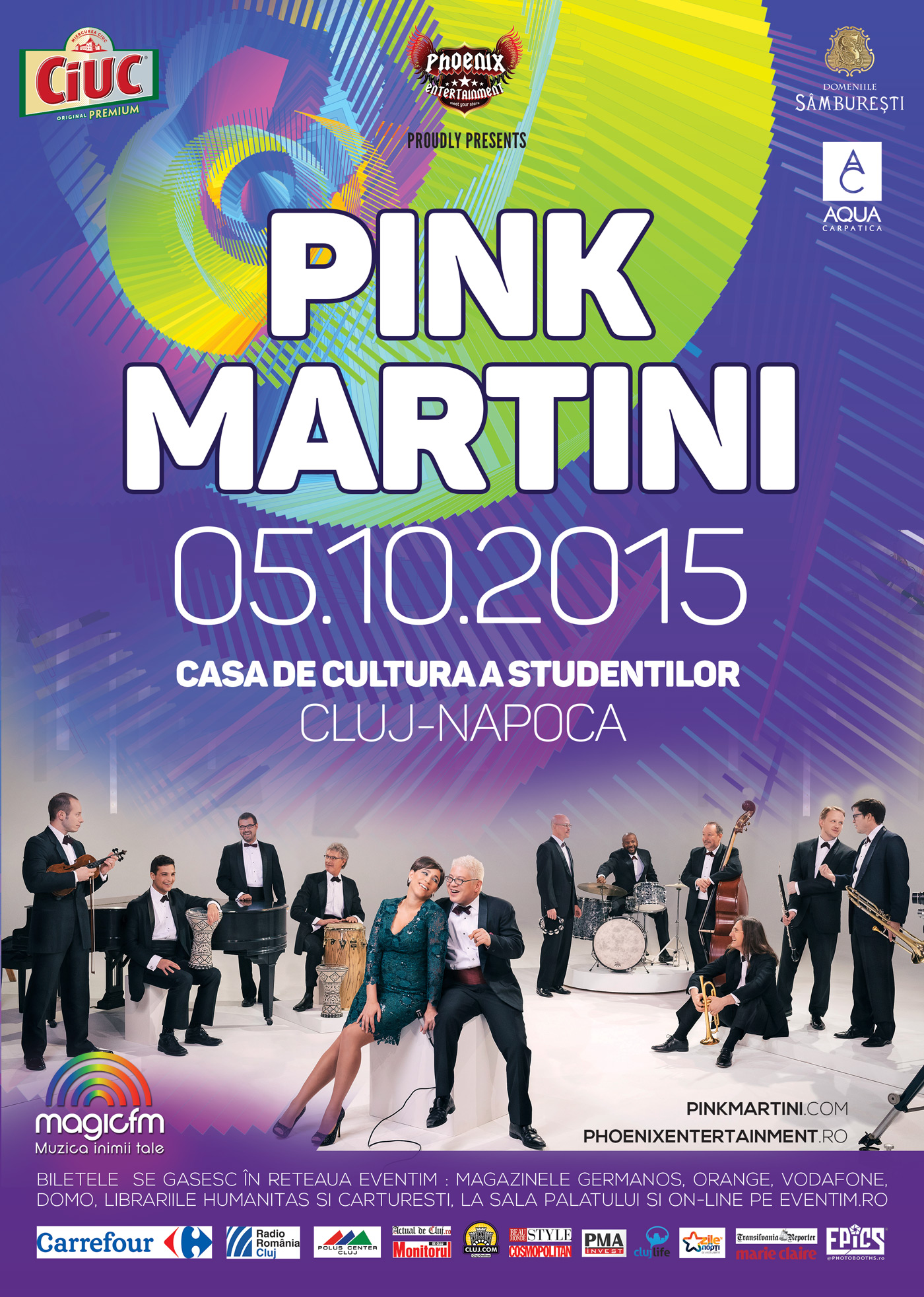 Afiş Pink Martini Concert Cluj Napoca 2015