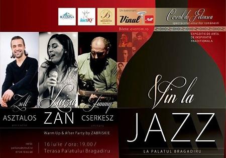 Afiș Vin la Jazz la Palatul Bragadiru 2015