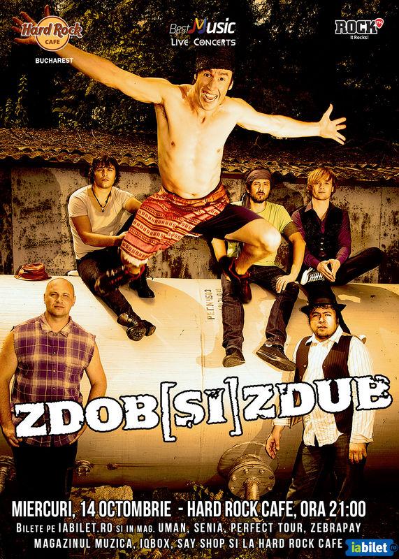 Afiș concert Zdob și Zdub la Hard Rock Cafe 2015