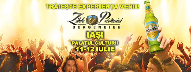 Afiș festival Zilele Prieteniei Bergenbier la Iași 2015