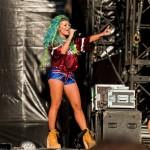 Delia în deschiderea concertului Robbie Williams pe 17 iulie 2015