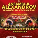 Afiș Ansamblul Aleksandrov Concert la Sala Radio 2015
