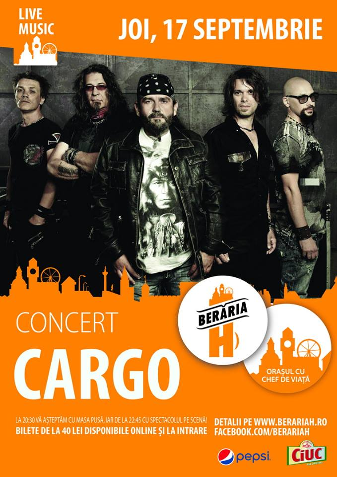 Afiș Cargo Concert Berăria H 2015