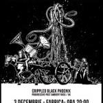 Afiș Crippled Black Phoenix Concert Fabrica 2015