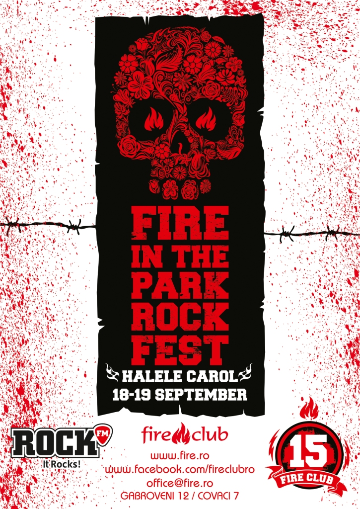 Afiș Fire in The Park Rock Fest 2015
