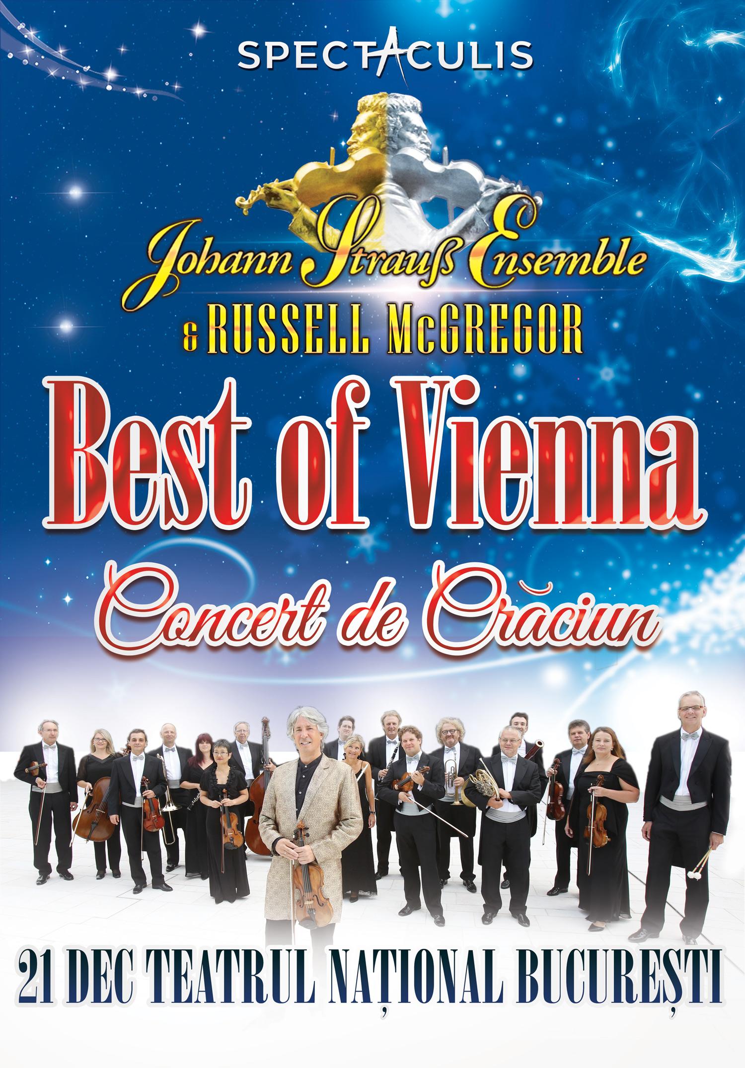 Afiș Johann Strauss Ensemble Concert Teatrul Național București 2015