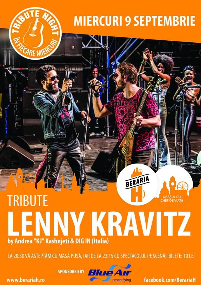 Afiș Lenny Kravitz Tribute Berăria H 2015