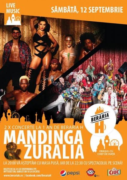 Afiș Concert Mandinga & The Zuralia Orchestra Berăria H 2015