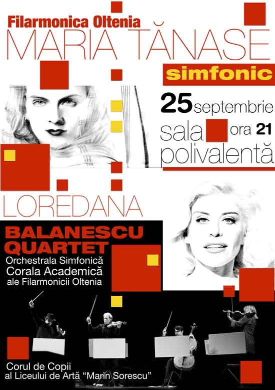 Afiș Spectacol Maria Tanase Simfonic Sala Polivalenta Craiova 2015