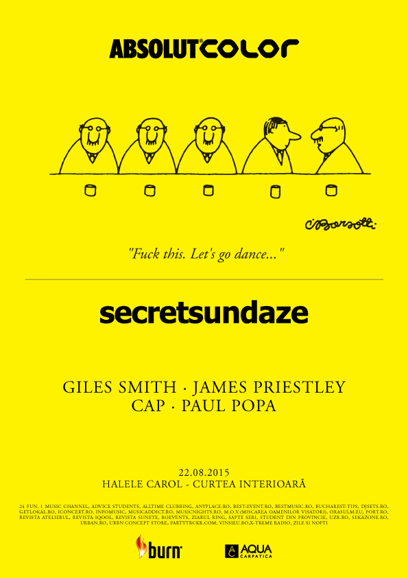 Afiș Secretsundaze Party la Halele Carol 2015