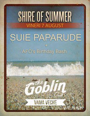 Afiș Suie Paparude Concert Goblin Vama Veche 2015