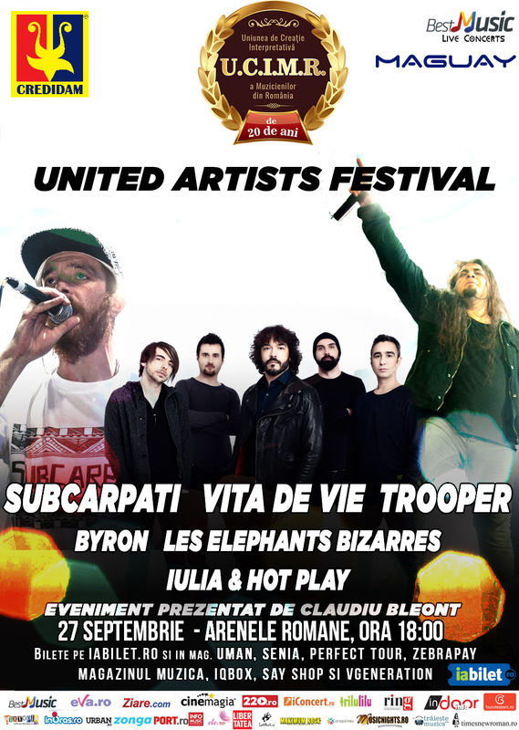 Afiș United Artists Festival 2/3 la Arenele Romane 2015