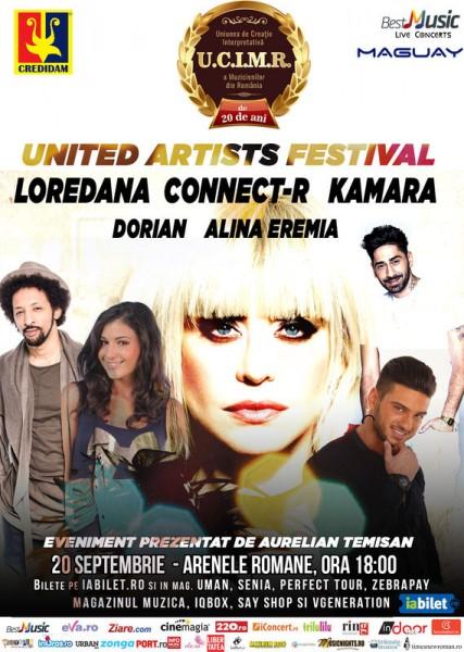 Afiș United Artists Festival 1/3 Arenele Romane