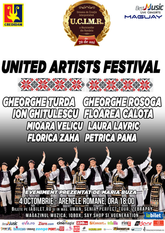 Afiș United Artists Festival 3 la Arenele Romane 2015