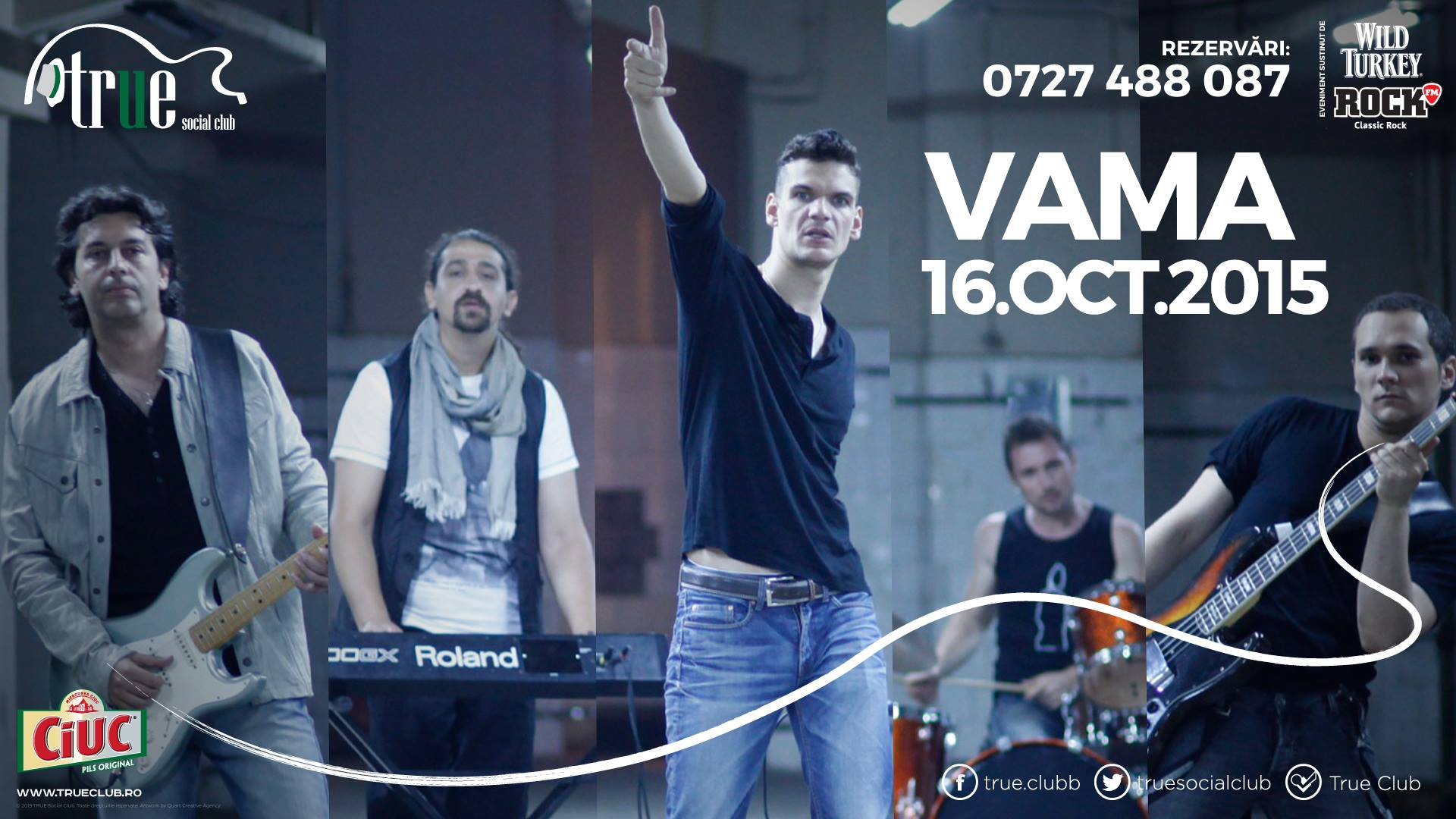 Afiș Vama Concert True Club 2015