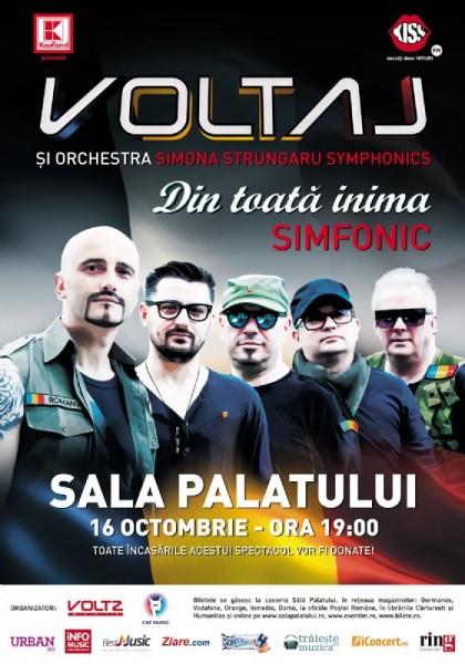 Afiș Voltaj Concert Sala Palatului 2015