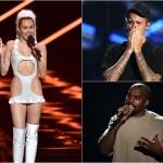 Miley Cyrus / Justin Bieber / Kanye West la MTV VMA 2015