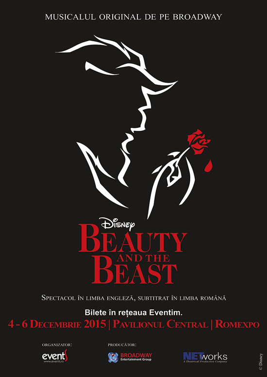 Afiș Musical Disney Beauty and The Beast 2015
