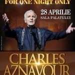Afiș Charles Aznavour Concert Sala Palatului 2016