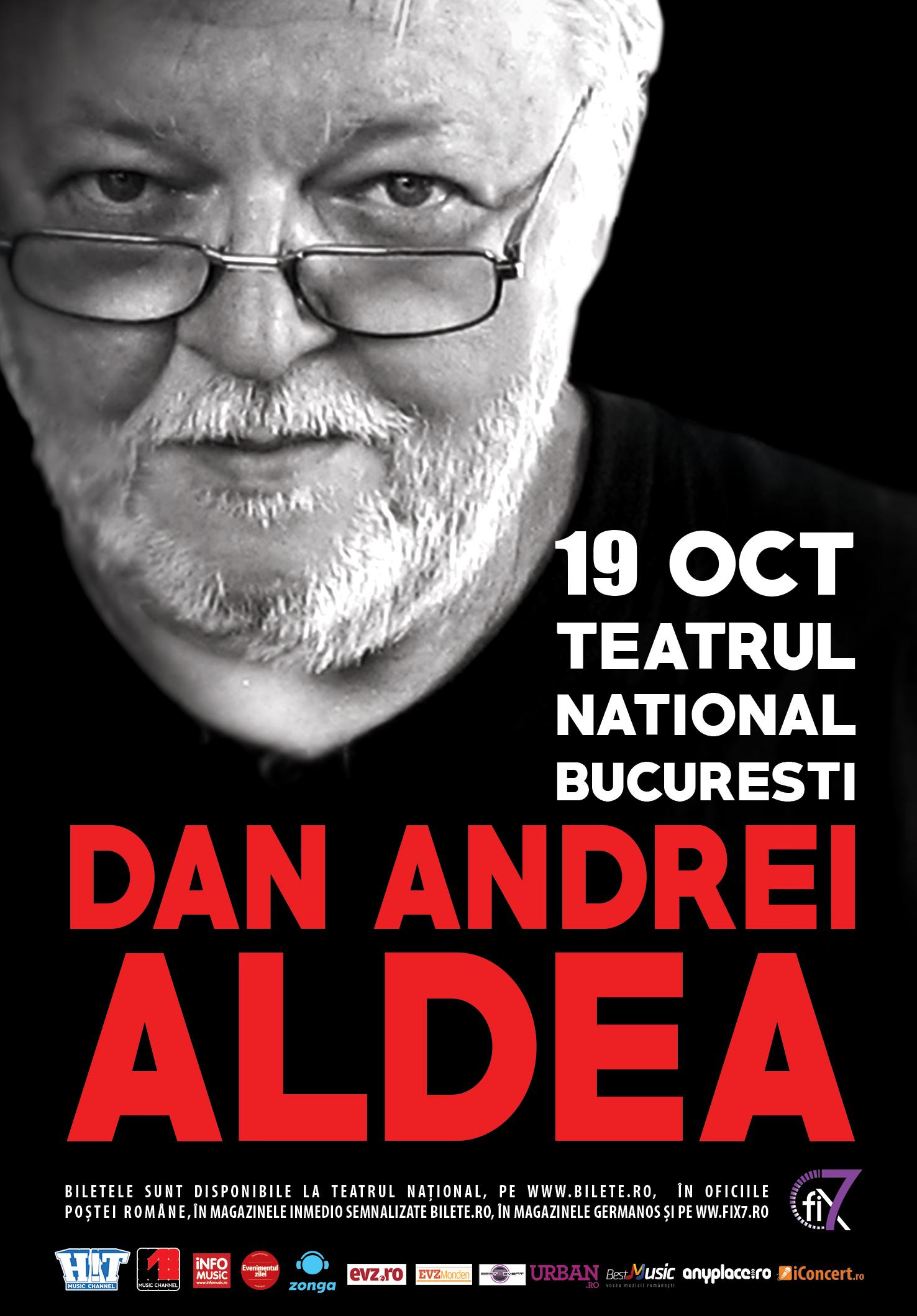 Afiş Dan Andrei Aldea concert Teatrul Naţional Bucureşti 2015