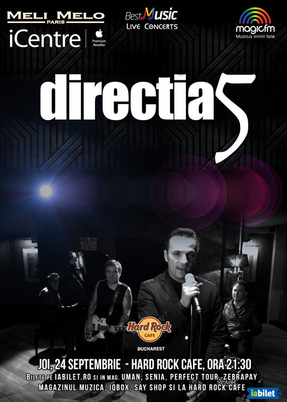Afiș Direcția 5 Hard Rock Cafe 2015