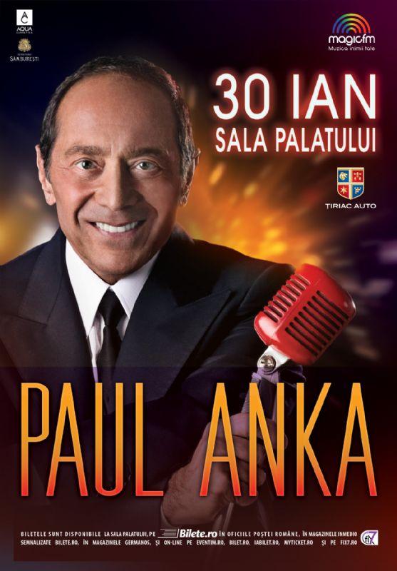 Afiș Paul Anka concert Sala Palatului 2016
