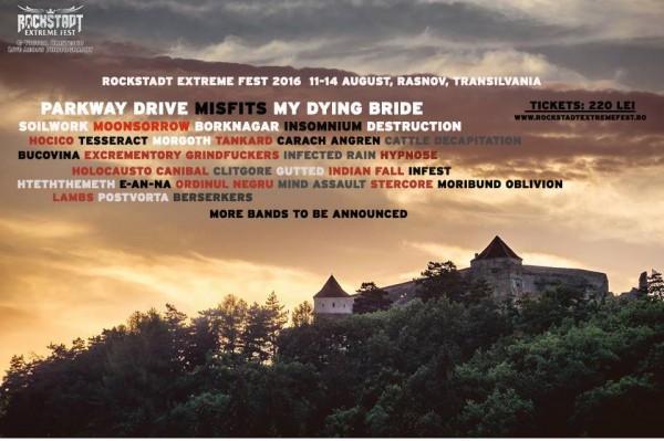 Afiş Rockstadt Extreme Fest 2016