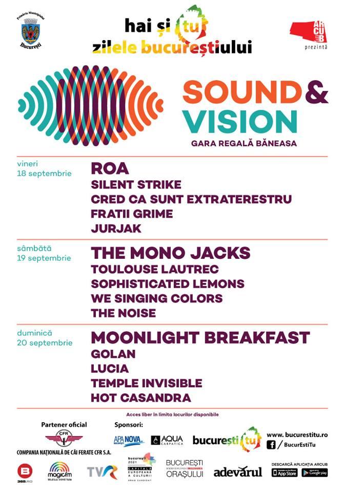 Afiș Sound and Vision Festival 2015