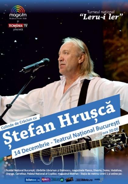 Afiș Ștefan Hrușcă Concert Colinde 2015