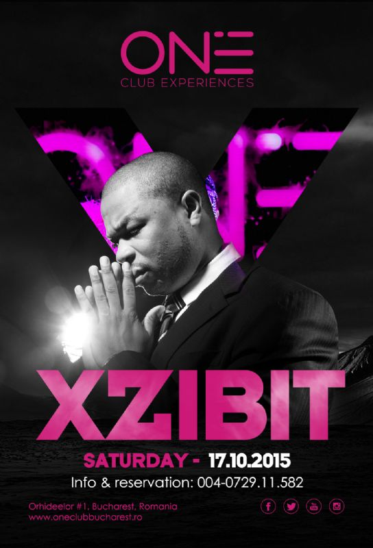 Afiș XZibit concert Club One 2015