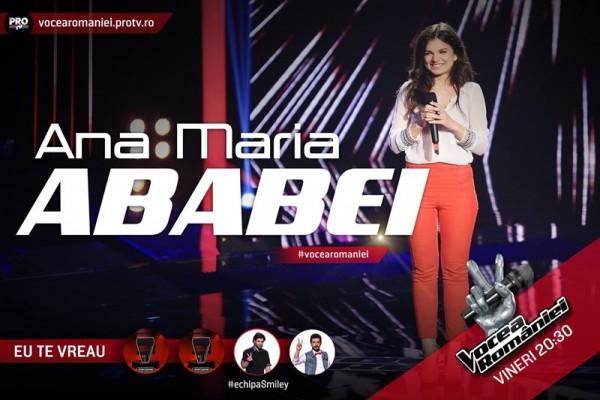 Ana Maria Ababei, Vocea României 2015