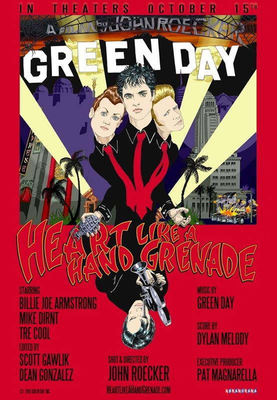 "Poster documentar Green Day - ""Heart Like a Hand Grenade"""