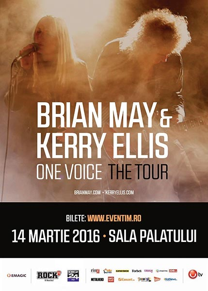 Brian May și Kerry Ellis la Sala Palatului