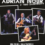 Afiș Adrian Nour și Trio Zamfirescu Teatrelli 2015
