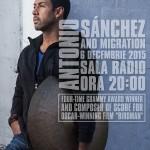 Afiș Antonio Sanchez Concert Sala Radio 2015
