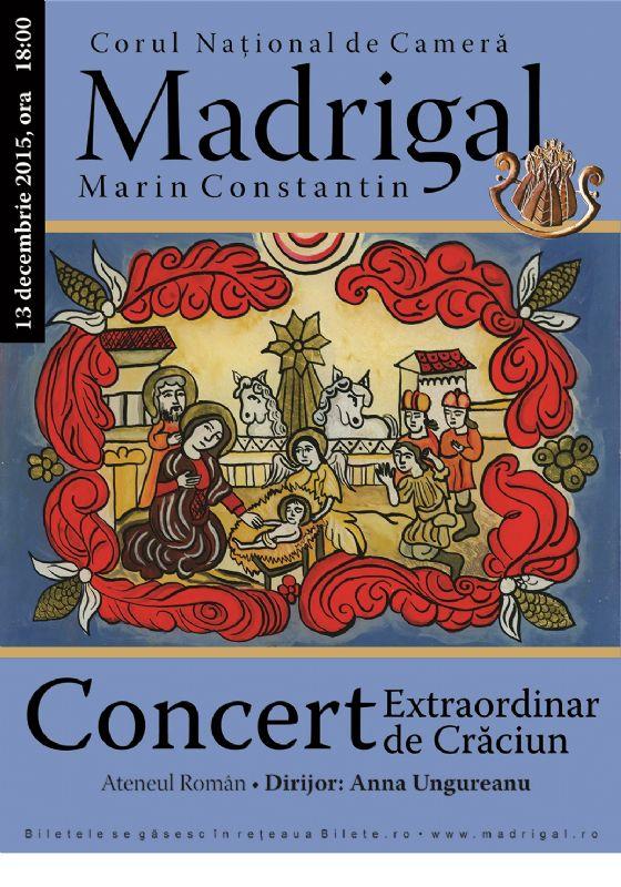 Afiș Corul Național de Cameră Madrigal Marin Constantin