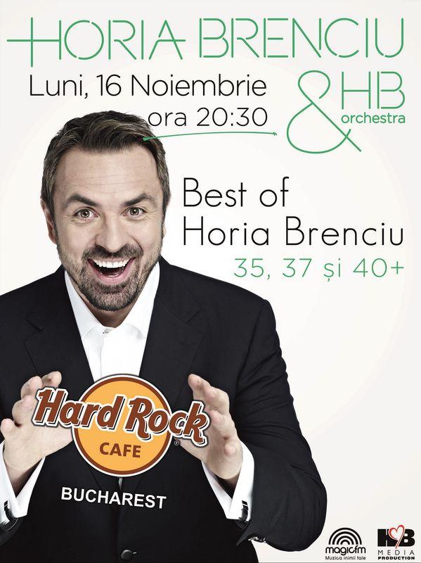 Afiş Horia Brenciu Concert Hard Rock Cafe 2015