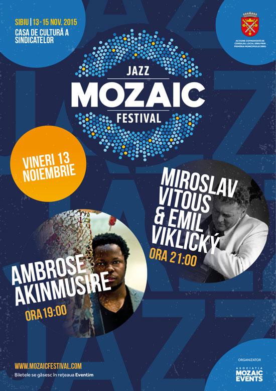 Afiș Jazz Mozaic Festival 2015