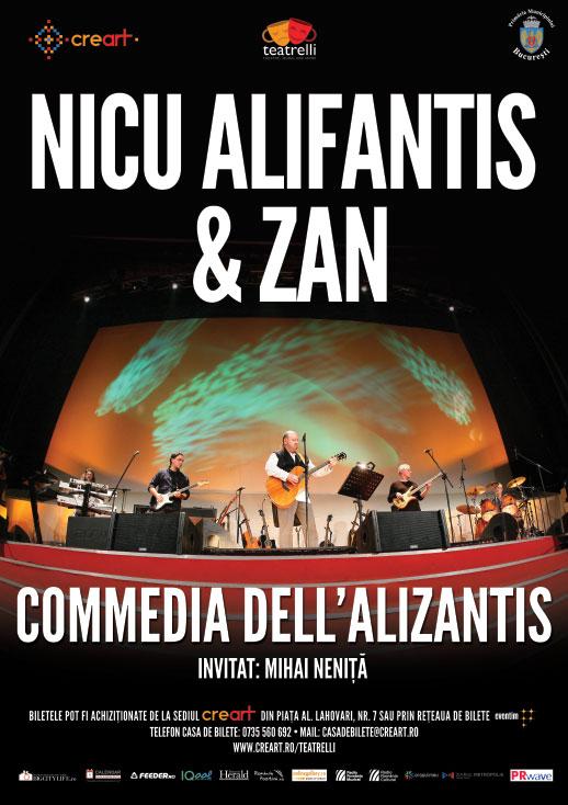 Afiș Concert Nicu Alifantis și Zan Teatrelli 2015