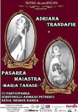 Afiş Concert Pasărea Măiastră Maria Tănase 2015