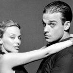 """Robbie Williams și Kylie Minogue în 2000, la filmarea clipului """"Kids"""""""